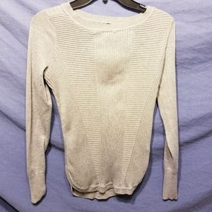 Maurices light grey ribbed sweater